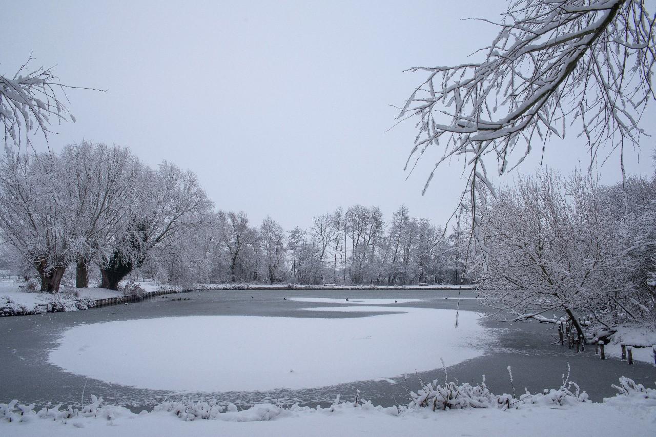 Parc des 6 Bonniers sous la neige