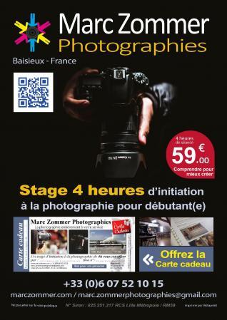 Affiche affiche stage 4h initiation a la photographies web