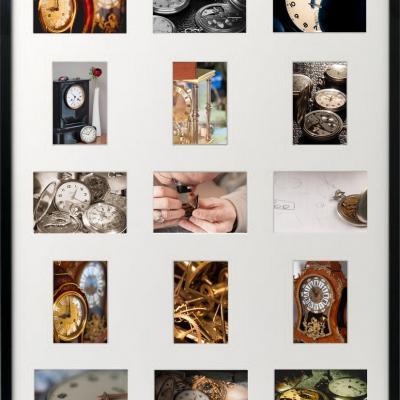 Horlogerie - 15 clichés - Sous cadre