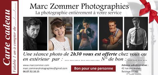 Carte cadeau marc zommer photographie